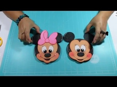 DIY Tarjetitas Mickey y Minnie  en Foami, Goma Eva, Microporoso Easy Crafts