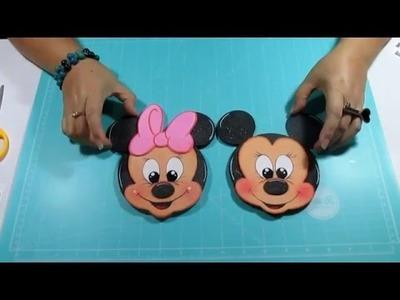 DIY Tarjetitas Mickey y Minnie  en Foami, Goma Eva, Microporoso Easy Crafts