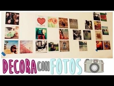 ¡¡Decora tu cuarto con fotos!! ♡ DIY - Laia Martín