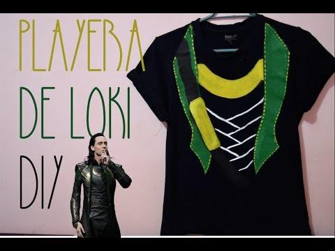 PP FANDOM. PLAYERA LOKI DIY. PP ARTS. Loki Shirt