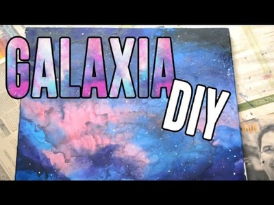DIY- Cuadro de galaxia hecha de crayolas|CcoriStudio