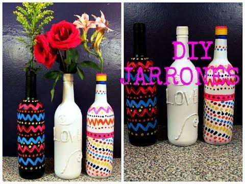 DIY JARRONES (FACIL, RAPIDO Y SENCILLO)