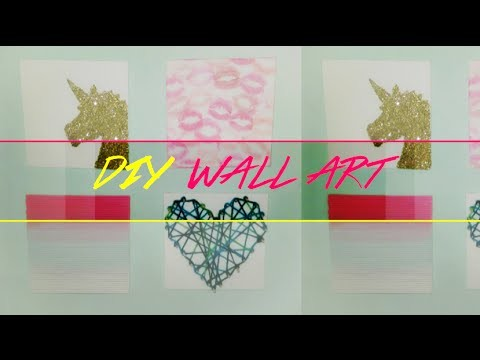 DIY: Arte en Canvas Colorido - Colorful Canvas Wall Art
