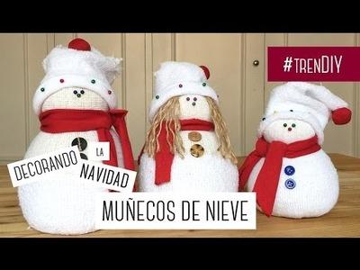 DIY Decoración navideña. Muñecos de nieve