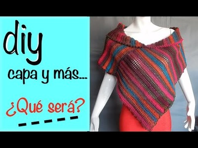 Capa Poncho Chaleco Bufanda Ganchillo, Crochet Diy Layer Up and more