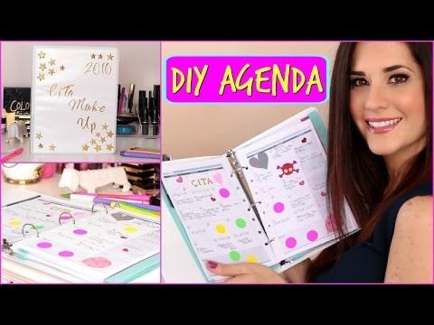 DIY AGENDA 2016 | Haz Tu Propia Agenda Facil Y Bonita