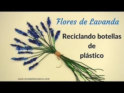 DIY Cómo hacer flores de Lavanda con botellas de plástico - Lavender flowers out of plastic bottles