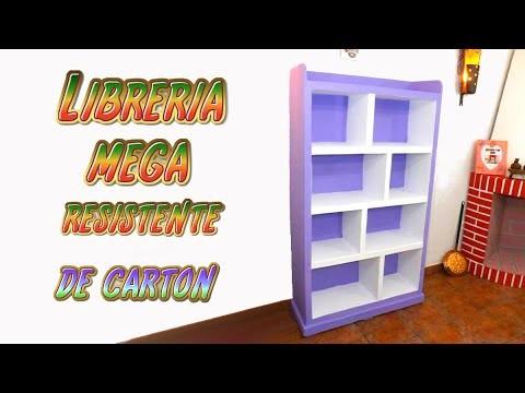 DIY Estantería hecha con Cartón para Libros - TUTORIALES muebles de cartón