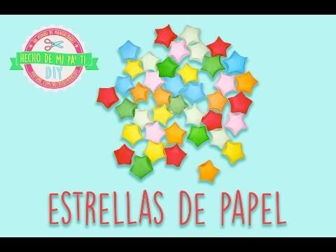DIY - Estrellas de papel ⭐️ (Estrellitas infladas) ⭐️