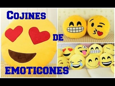 DIY: Haz Cojines De Emoticones ♥ Super facil y lindos! - Cute & Easy Heart Emoji Pillows