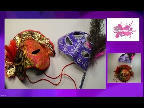 DIY. Máscara veneciana de papel maché (cartapesta). Venetian mask from paper mache