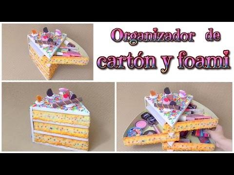 DIY organizador kawaii de cartón en forma de tarta o pastel - Isa ❤️