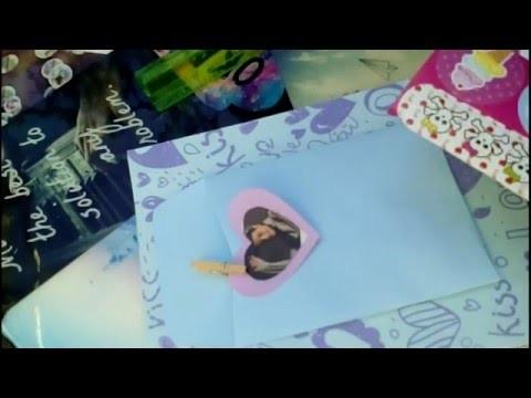 DIY : Tarjeta Día del  Amor y  la Amistad.Abraham Mateo