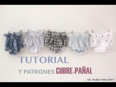 DIY Tutorial y patrones gratis: BRAGUITAS CUBRE-PAÑAL