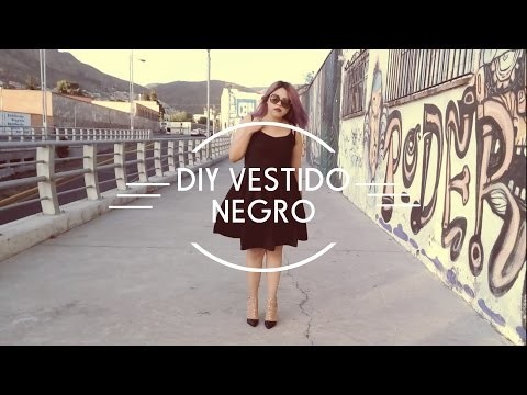 DIY: VESTIDO NEGRO | DIY LITTLE BLACK DRESS | LA MALVESTIDA |