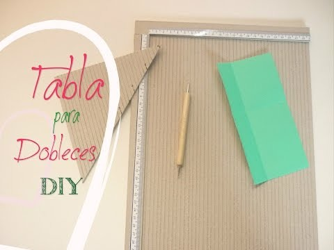 Manualidades: COMO hacer TABLA para DOBLECES DIY -  Making Offset Table