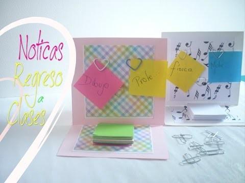 Manualidades: REGRESO a CLASES (Noticas) DIY - Back to school