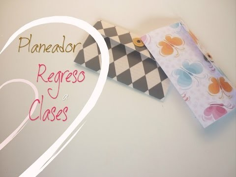 Manualidades: REGRESO a CLASES (Planeador) DIY - Back to School (Glider for year)
