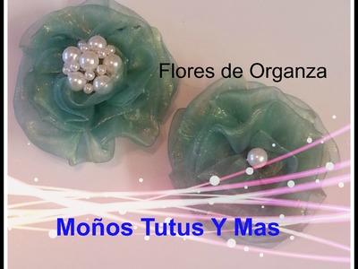 Flores de Organza Paso a Paso para decorar  - Organza Flowers DIY Tutorial
