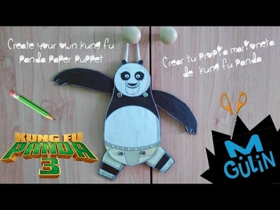 ✂¡Kung Fu Panda paper puppet! | DIY |decorativo | manualidad  | M.Gulin | craft for kids✂