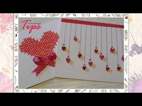 14 de FEBRERO - Tarjeta san valentin - DIY Filigrana