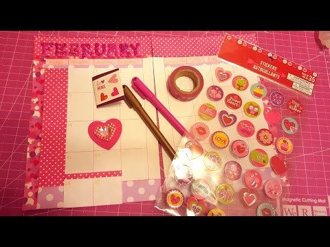DIY Agenda Casera. Decora tu Agenda Febrero