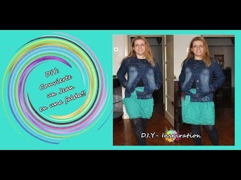 ♥♥ DIY RECICLA UN JEAN Y CONVIERTELO EN FALDA ♥♥