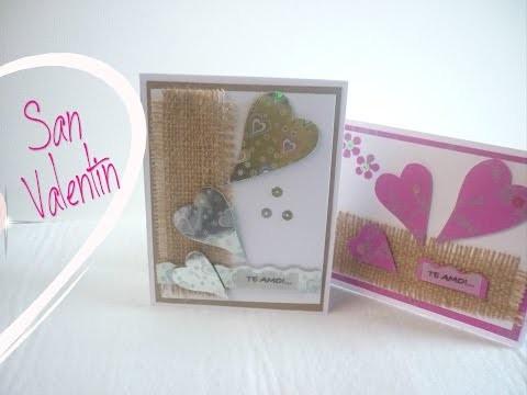 Manualidades: COMO hacer TARJETA San Valentín (El Y Ella) DIY - Making Valentine CARD