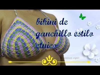 DIY:BIKINI DE GANCHILLO ESTILO ETNICO