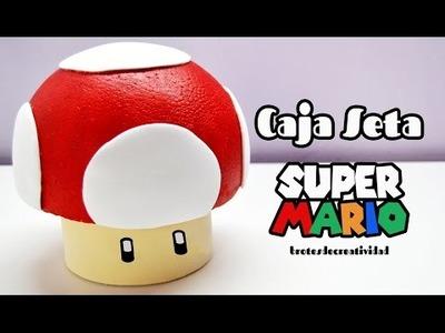 DIY : Caja Seta de Super Mario Bross de corcho y goma eva.foami  - Brotes de Creatividad
