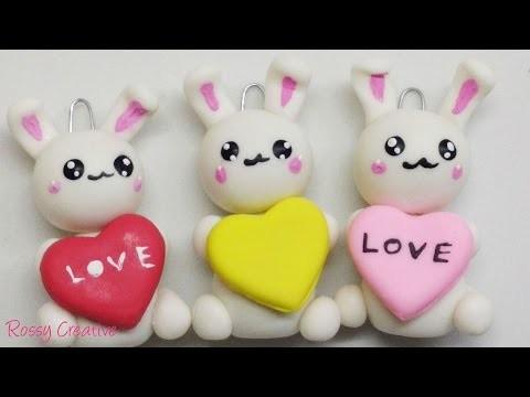 DIY Conejito en porcelana fría. Cold porcelain little bunny