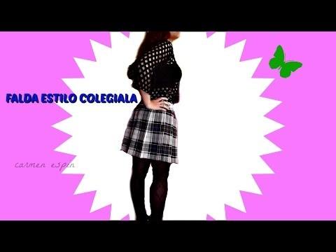 DIY:FALDA ESTILO COLEGIALA