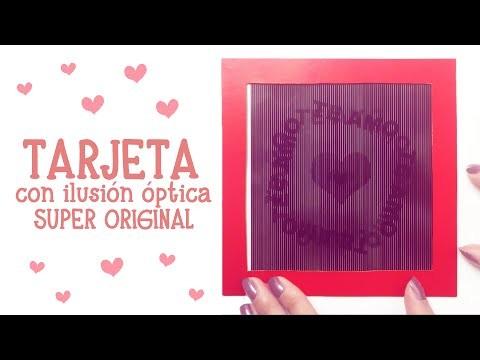 """DIY: TARJETA """"TE AMO MUCHO""""  CON ILUSIÓN ÓPTICA!!!!! ♥♥ SÚPER ORIGINAL♥♥"""