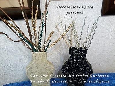 ADORNOS PARA JARRONES. DIY. Decorations for vases