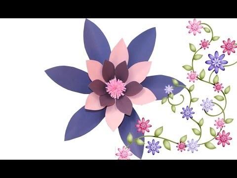 Curso de ScrapBook Flor Gerbera. Aprenda Facil DIY