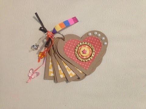 DIY: Álbum corazón scrapbook. 14 de Febrero. día del amor