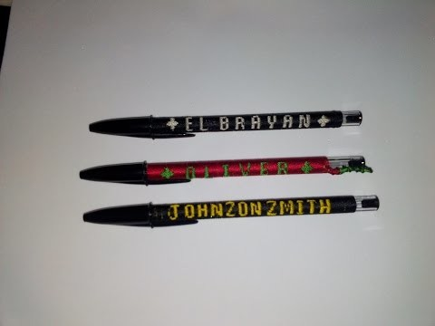 DIY bordar pluma con nombre - Parte 1