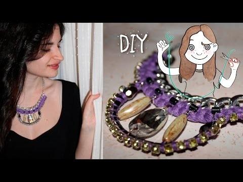 DIY Collar de moda con strass I DIYpnotizada