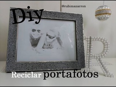 Diy.  Portafotos reciclado