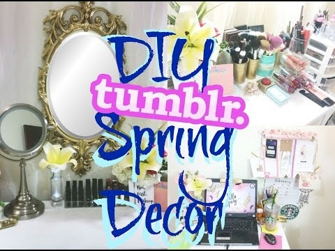 Diy spring decor decora tu cuarto estilo tumblr my for Cuarto estilo tumblr