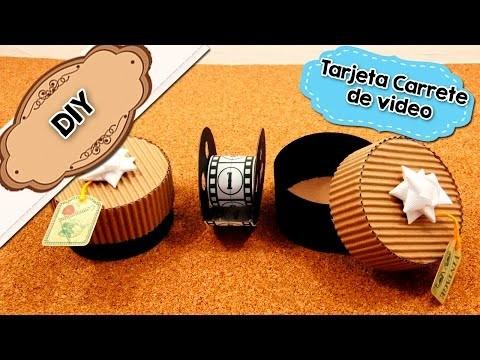 DIY | Tarjeta Carrete de Video | Manualidad 14 de Febrero | Fácil
