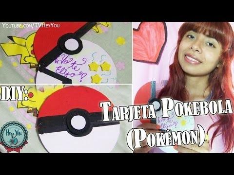 DIY: Tarjeta Pokebola ( Pokémon )