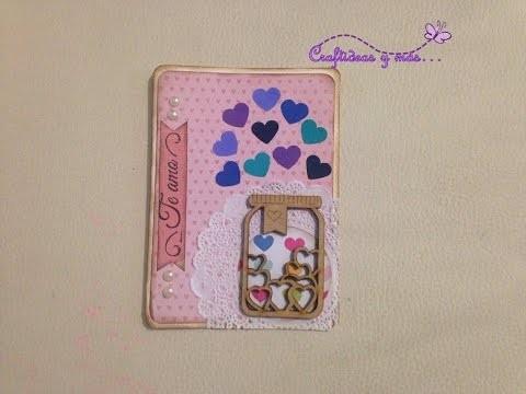 DIY: Tarjeta scrapbook San Valentin.14 de febrero. día del amor