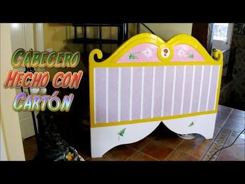 Manualidades: Cabecero hecho con Cartón DIY, como se hacen los muebles de carton