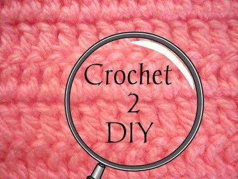 Manualidades: CROCHET 2 (Punto Básico deslizado o enano) DIY - CROCHET (Basic slipped Item 2)