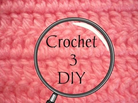 Manualidades: CROCHET 3 (Punto Básico  Medio o Bajo) DIY - CROCHET (Basic Point 3 Medium LOW)