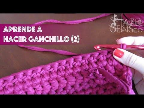 Aprende a hacer ganchillo (crochet) [2] Como unir hilos, punto alto, calados.