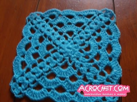Blog Acrochet Abanicos pequeños 4 lados tecnica de crochet