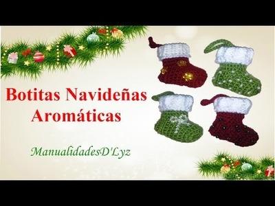 Botitas navideñas aromáticas a crochet paso a paso