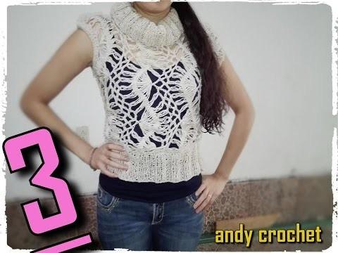 Chaleco en horquilla ( parte 3 final ) Andy crochet